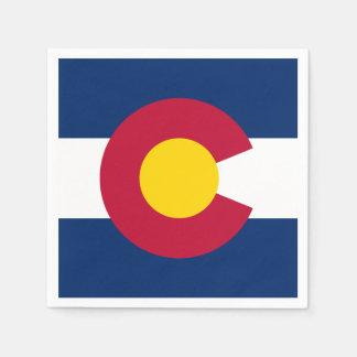 Colorado State Flag Standard Cocktail Napkin