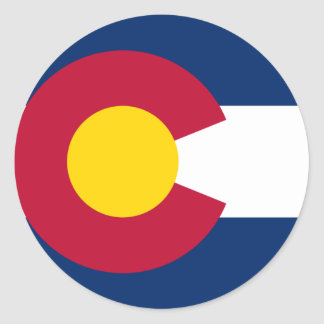 Colorado State Flag Round Sticker