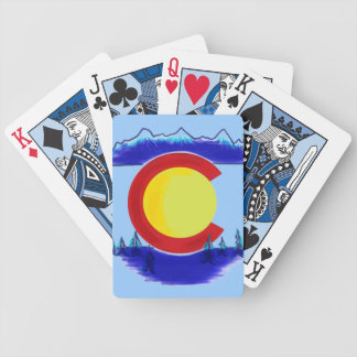 Colorado state flag symbol art playing cards