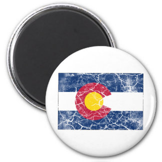 Colorado State Flag Vintage 2 Inch Round Magnet