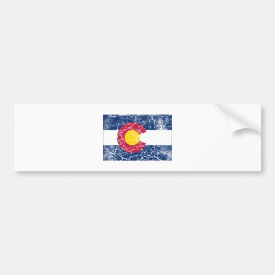 Colorado State Flag Vintage Bumper Sticker