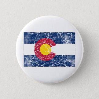 Colorado State Flag Vintage Pinback Button