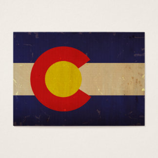 Colorado State Flag VINTAGE.png Business Card