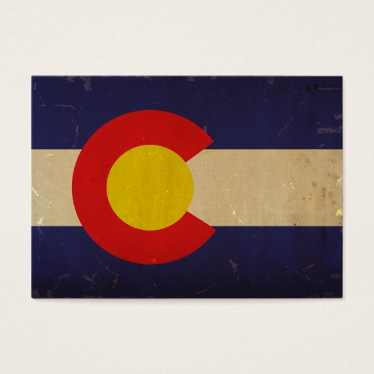 Colorado State Flag VINTAGE.png Business Card