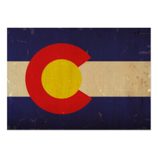 Colorado State Flag VINTAGE.png Large Business Card