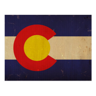 Colorado State Flag VINTAGE.png Postcard