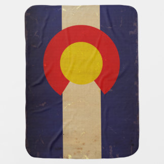 Colorado State Flag VINTAGE.png Receiving Blanket