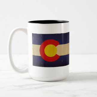 Colorado State Flag VINTAGE.png Two-Tone Coffee Mug