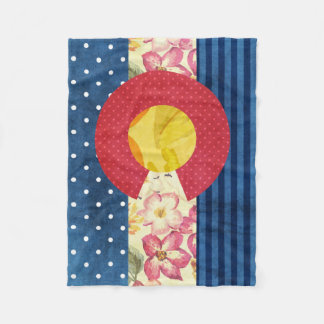 Colorado State Flag | Vintage Shabby Chic Fleece Blanket