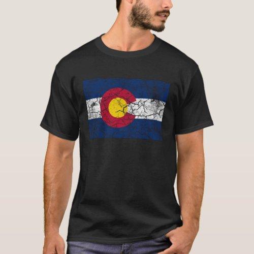 Colorado State Flag Vintage T_Shirt