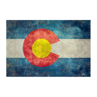 Colorado State flag with vintage retro grungy look Acrylic Print