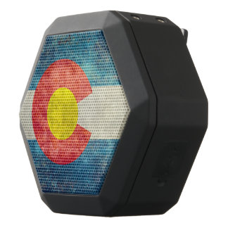 Colorado State flag with vintage retro grungy look Black Bluetooth Speaker