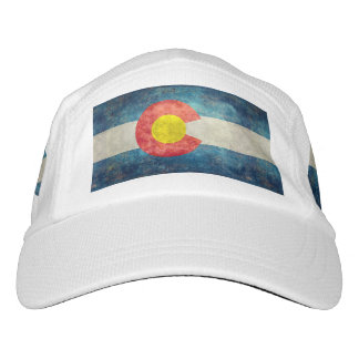 Colorado State flag with vintage retro grungy look Hat