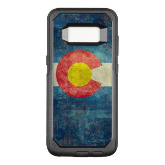 Colorado State flag with vintage retro grungy look OtterBox Commuter Samsung Galaxy S8 Case