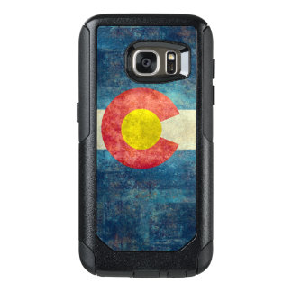 Colorado State flag with vintage retro grungy look OtterBox Samsung Galaxy S7 Case