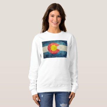 Lonestardesigns2020 Colorado State flag with vintage retro grungy look Sweatshirt