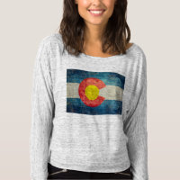 Colorado State flag with vintage retro grungy look T-shirt