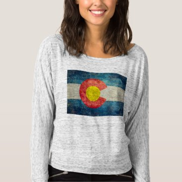 Lonestardesigns2020 Colorado State flag with vintage retro grungy look T-shirt