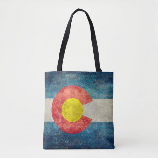 Colorado State flag with vintage retro grungy look Tote Bag