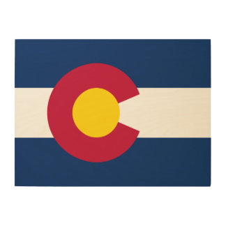 Colorado State Flag Wood Wall Art