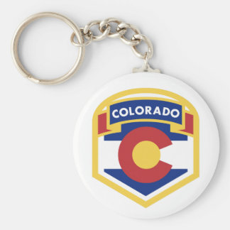 COLORADO STATE FLAG zazzle Keychain