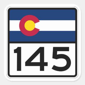 Colorado State Highway 145 Square Sticker