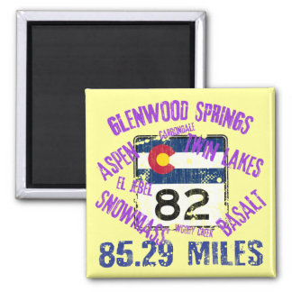 Colorado State Highway 82 2 Inch Square Magnet