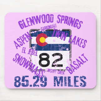 Colorado State Highway 82 Mouse Pad