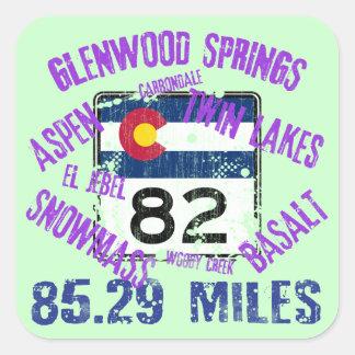 Colorado State Highway 82 Square Sticker