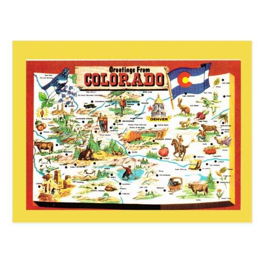 Colorado State Map Postcard Zazzle Com