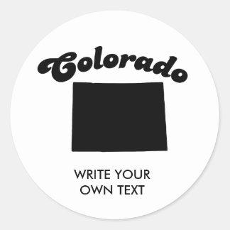 COLORADO STATE MOTTO T-SHIRT CLASSIC ROUND STICKER