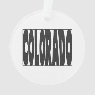 Colorado State Name Word Art Black Ornament