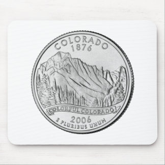 Colorado State Quarter Mouse Pad