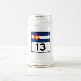 Colorado State Route 13 Beer Stein