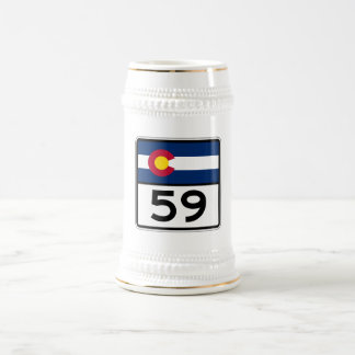 Colorado State Route 59 Beer Stein