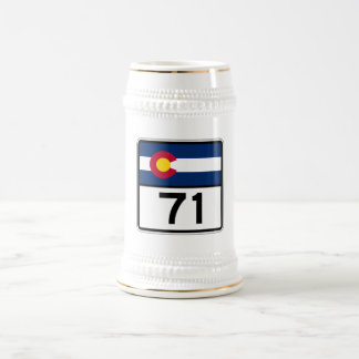 Colorado State Route 71 Beer Stein