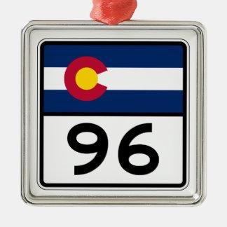 Colorado State Route 96 Metal Ornament