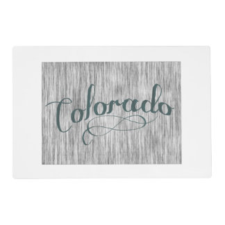 Colorado State Typography Placemat