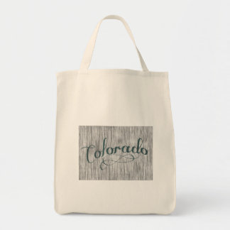 Colorado State Typography Tote Bag