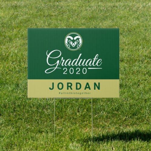 Colorado State University 2020 Graduate Sign