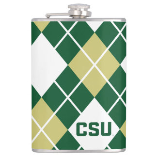 Colorado State University Argyle Pattern Flask