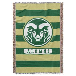 Colorado State University Logo Alumni Stripes Throw