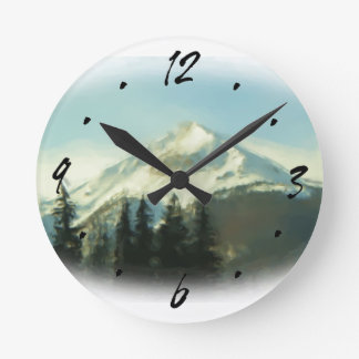 Colorado Summit County mountain scene wall clock