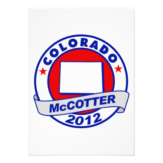 Colorado Thad McCotter Invitations