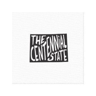 Colorado: The Centennial State Canvas Print