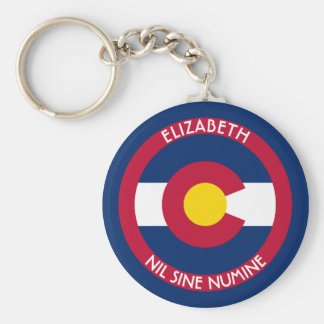 Colorado The Centennial State Personalized Flag Keychain
