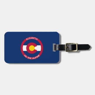 Colorado The Centennial State Personalized Flag Luggage Tag