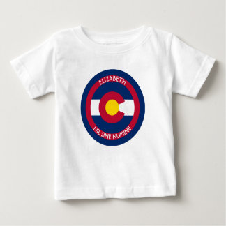 Colorado The Centennial State Personalized Flag T Shirt