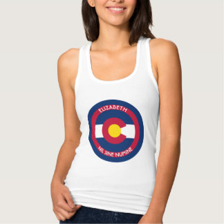 Colorado The Centennial State Personalized Flag Tank Top