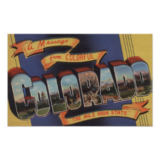 Colorado (The Mile High State) Poster